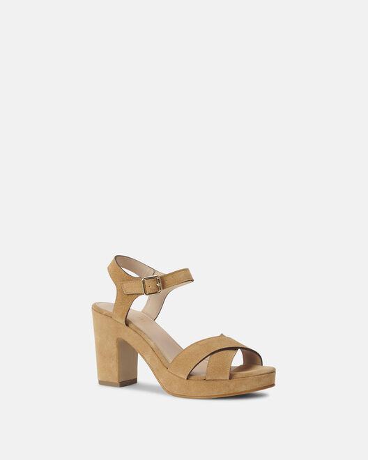 Sandale à talon - Chariale, BEIGE