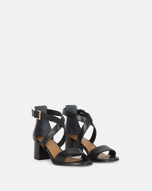 Sandale à talon - Cherin, NOIR
