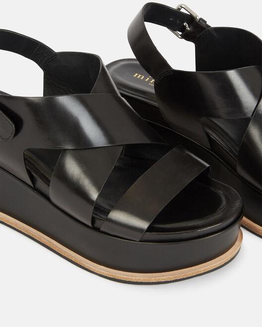 Sandale compensée - Clodianne, NOIR