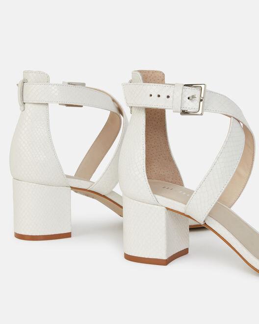 Sandale à talon - Calye, BLANC