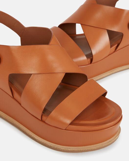 Sandale compensée - Clodianne, CUIR