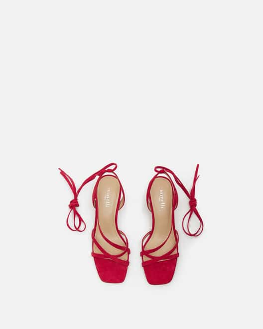Sandale à talon - Tanaelle, FRAMBOISE