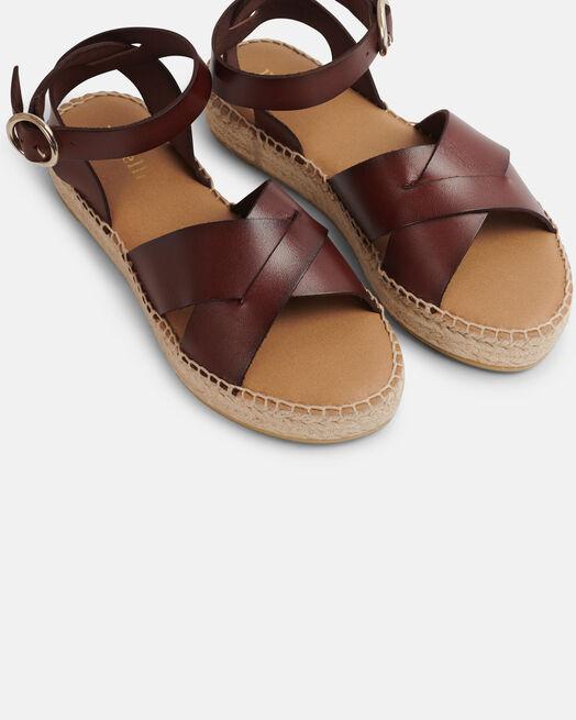 Sandale plate - Rozenette, MARRON
