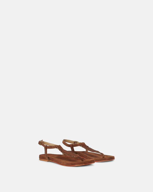 Sandale plate - Matelda, CUIR