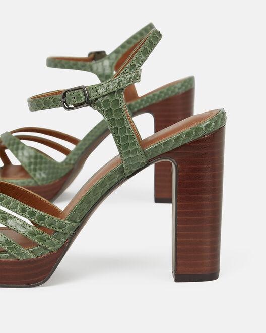 Sandale à talon - Citlaly, KAKI