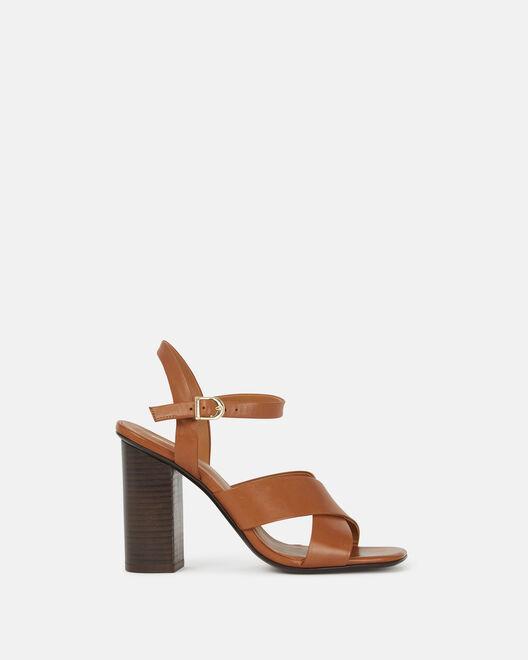 Sandale à talon - Collyne, CUIR