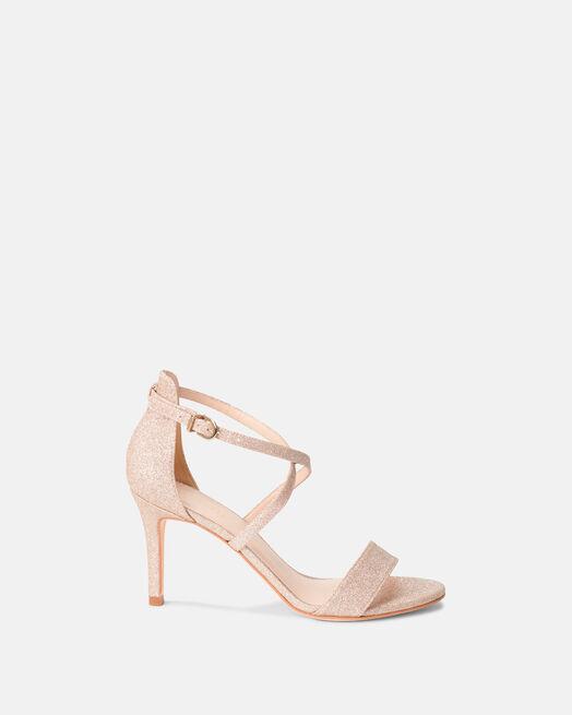 Sandale à talon - Begitta, PLATINE