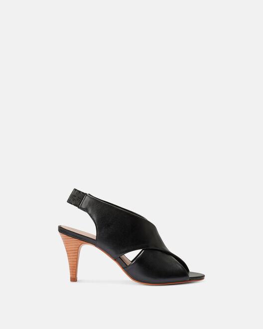 Sandale à talon - Cherline, NOIR