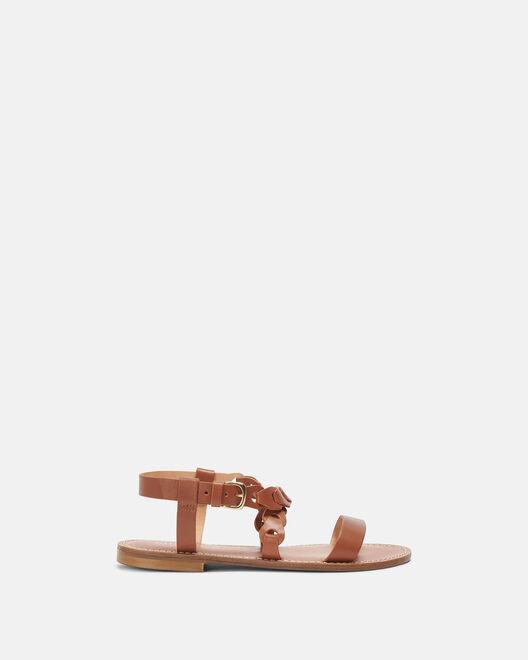 Sandale plate - Myliana, CUIR