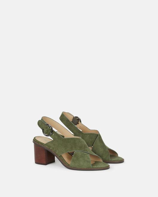 Sandale à talon - Casimiera, KAKI
