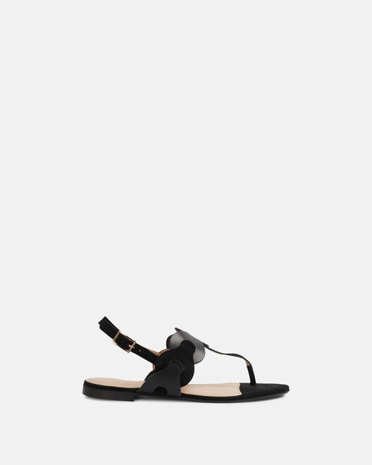 Sandale plate - Mauna, NOIR