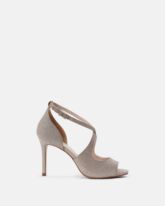 Sandale à talon - Calini, PLATINE