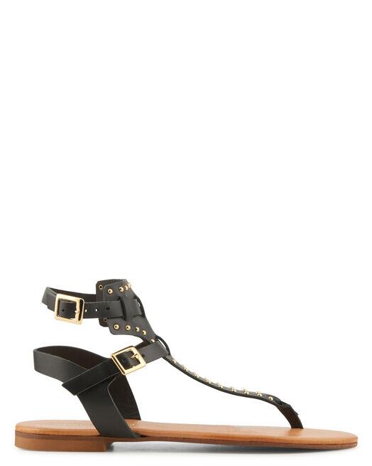 Sandale plate - Vahiti, NOIR