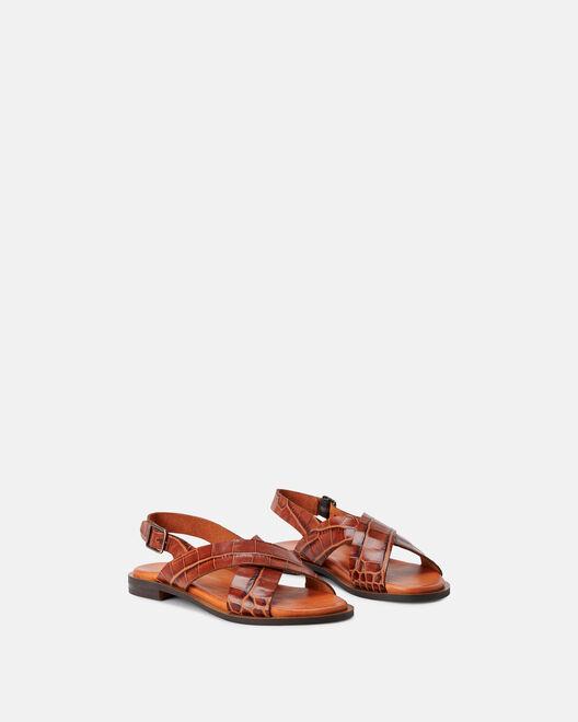 Sandale plate - Marikko, CUIR