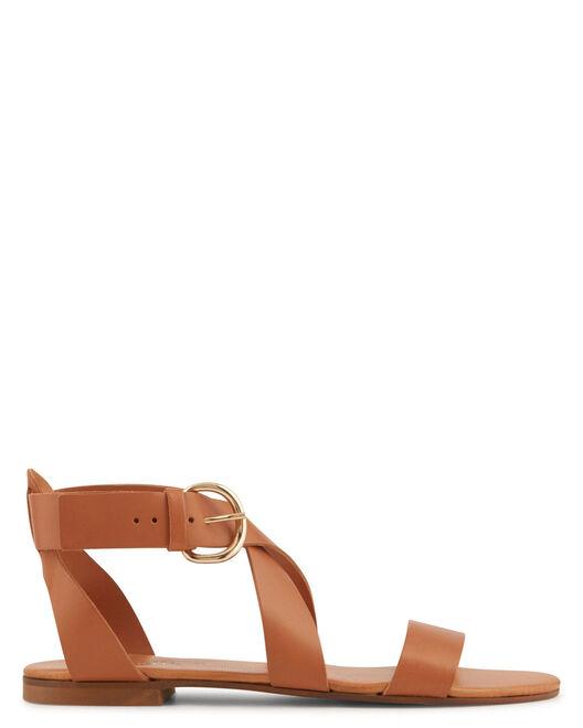 Sandale plate - Vaiaha, CUIR