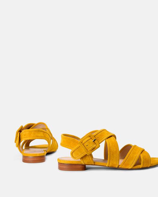 Sandale plate - Mongia, JAUNE