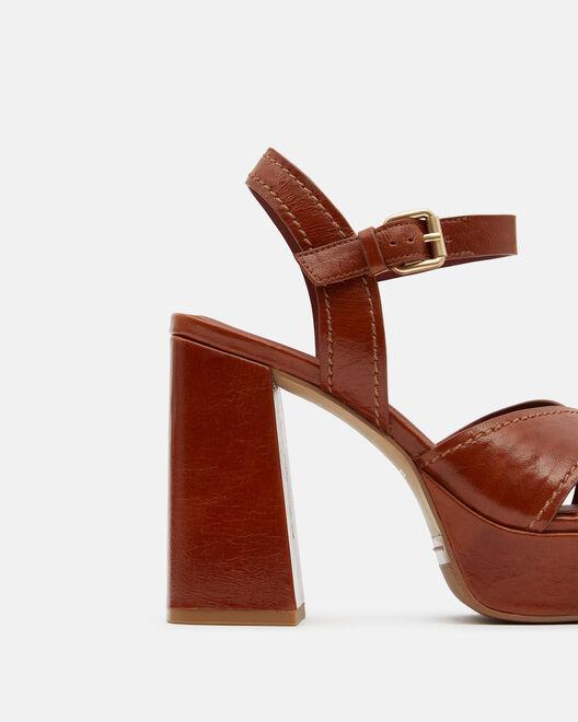 Sandale à talon - Tainy, CARAMEL
