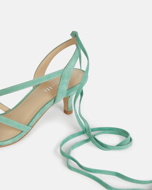 Sandale à talon - Tanaelle, VERT EAU