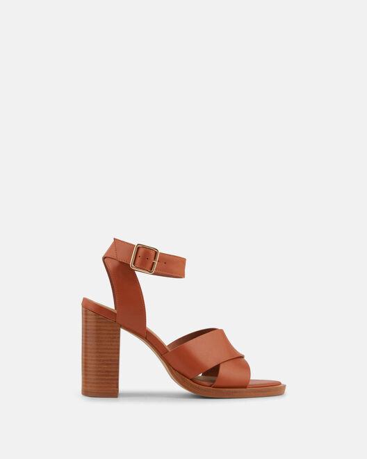 Sandale à talon - Filippetta, NOISETTE