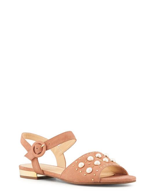 Sandale plate - Vanira, VIEUX ROSE