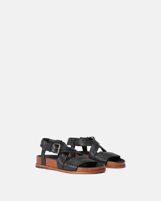 Sandale plate  - Malake, NOIR