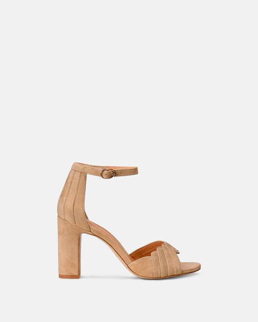 Sandale à talon - Barbel, BEIGE
