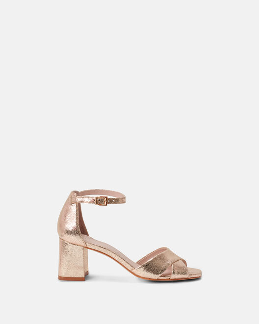 Sandale à talon - Ciydema, PLATINE