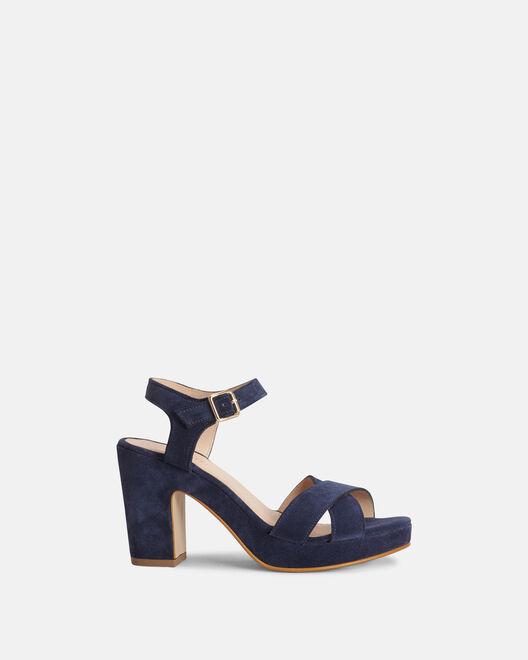 Sandale à talon - Chariale, MARINE