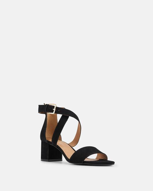 Sandale à talon - Leila, NOIR