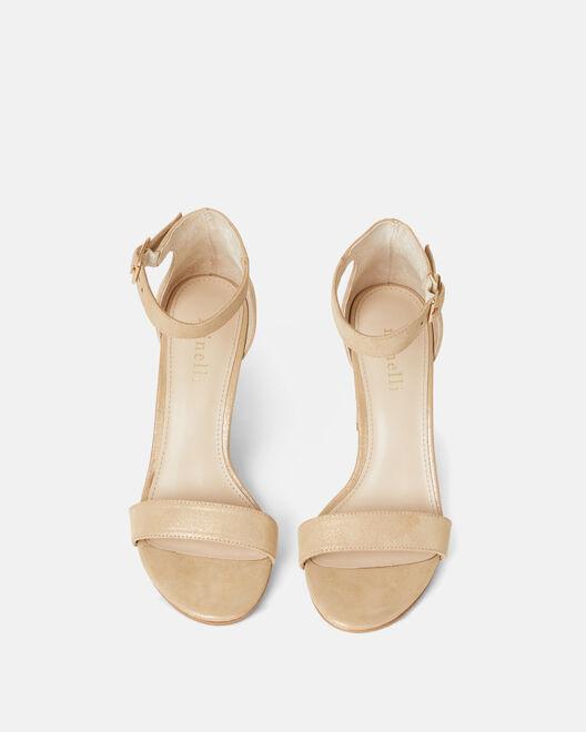 Sandale à talon - Benigne, PLATINE