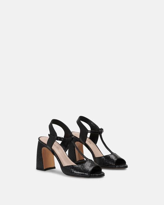 Sandale à talon - Chimhla, NOIR