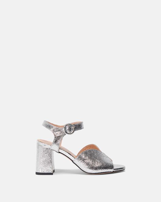 Sandale à talon - Ceese, ARGENT