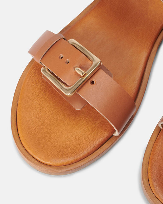 Sandale plate - Monico, CUIR