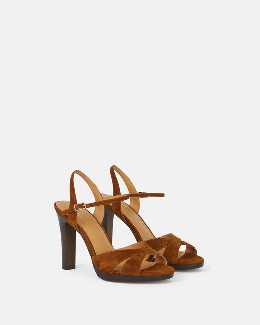 Sandale à talon - Cyndra, CUIR