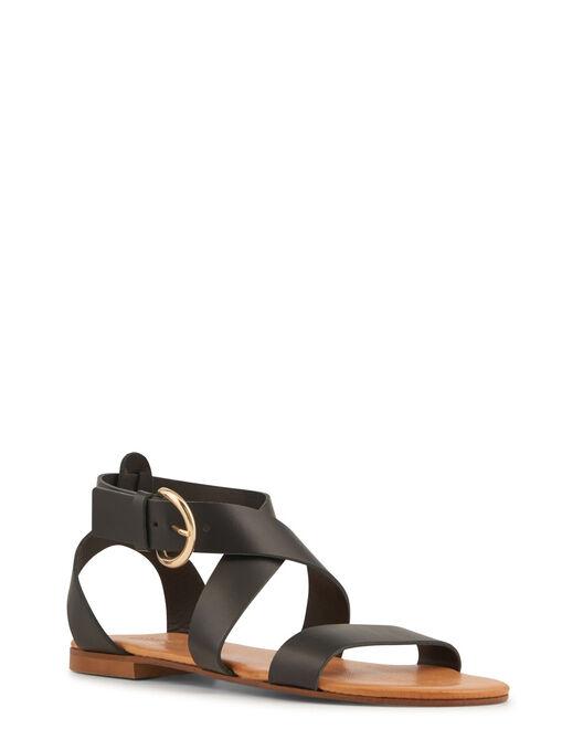 Sandale plate - Vaiaha, NOIR