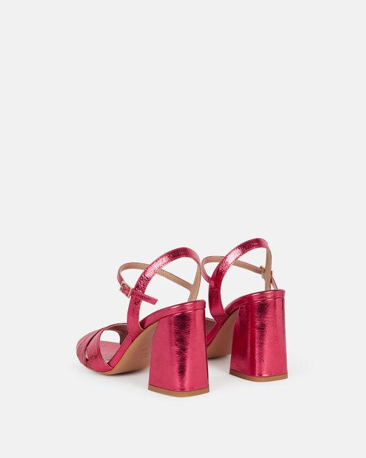 Sandale à talon - Typhanna, FRAMBOISE