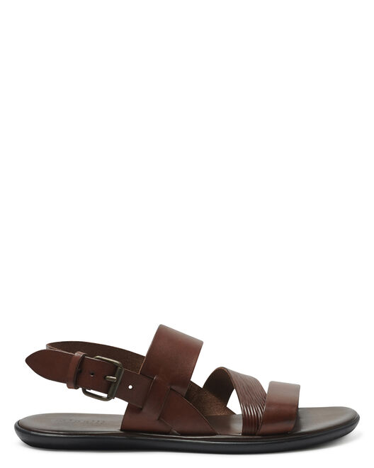 Sandale plate - Giani, COGNAC