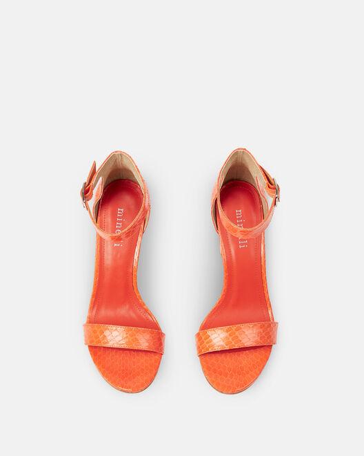 Sandale à talon - Cherine, ORANGE