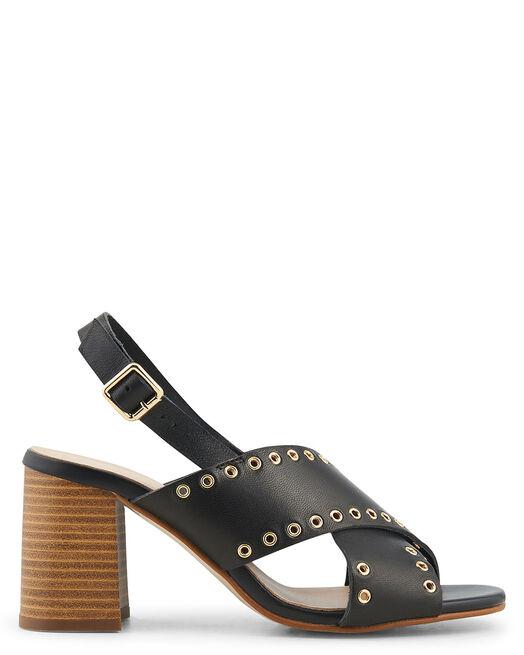 Sandale à talon - Belle, NOIR
