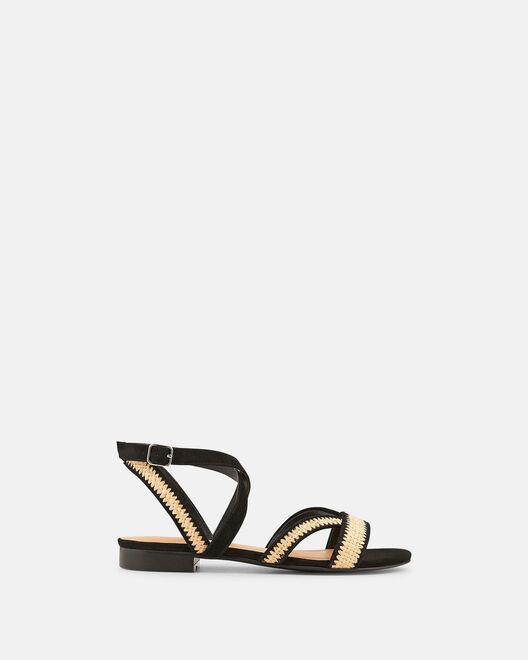 Sandale plate - Vairea, NATUREL NOIR