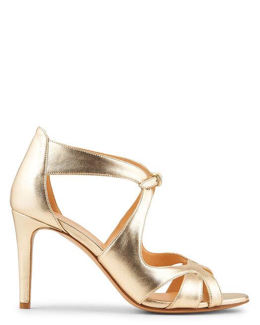 Sandale à talon - Bera, PLATINE