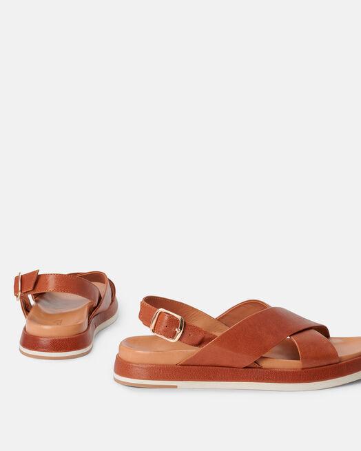 Sandale plate - Mechthil, CUIR