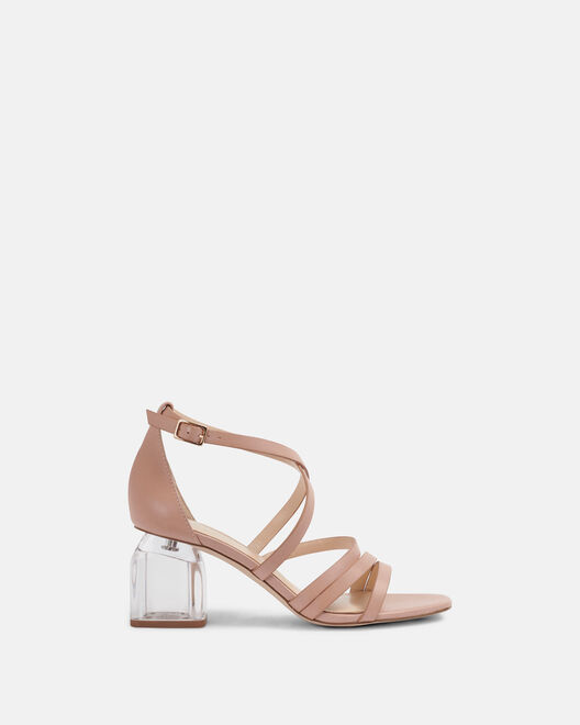 Sandale à talon - Carsta, POUDRE