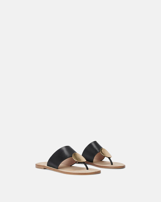 Sandale plate - Miya, NOIR