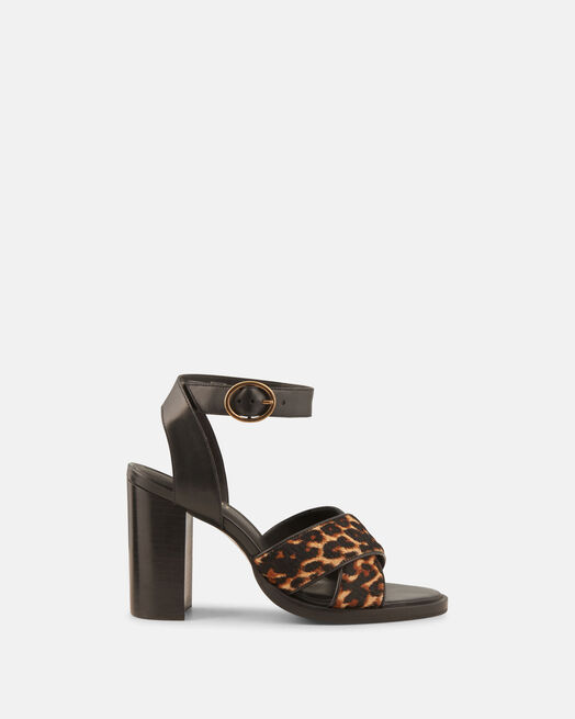 Sandale à talon - Filippa, LÉOPARD