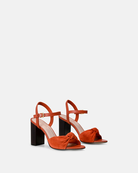 Sandale à talon - Cindra, TERRACOTTA
