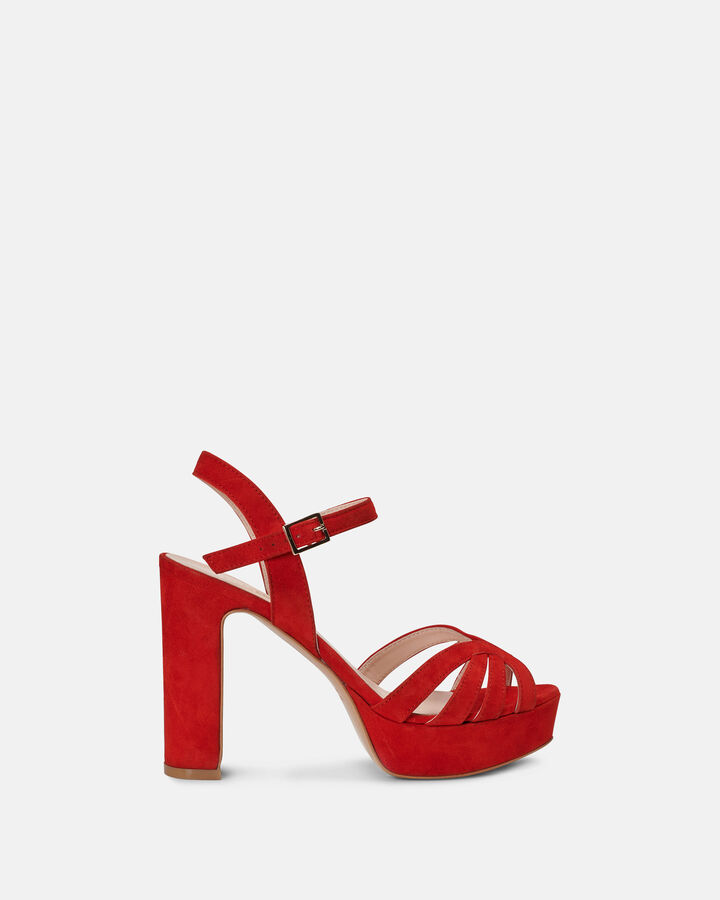 Sandale à talon - Carmelette, ROUGE