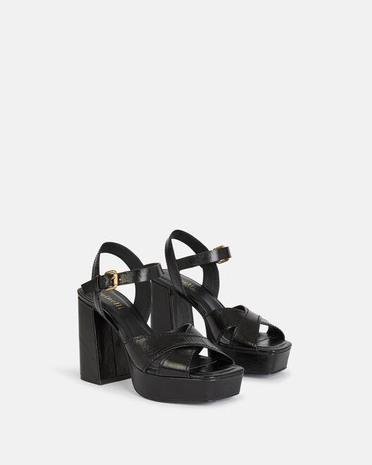 Sandale à talon - Tainy, NOIR