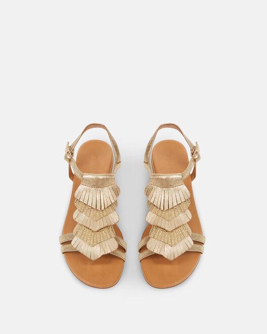 Sandale plate - Daisia, PLATINE