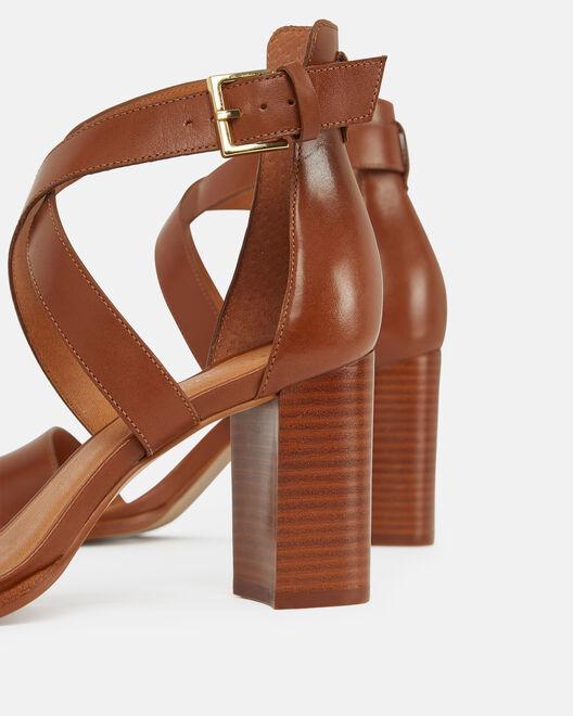 Sandale à talon - Cecylia, CUIR